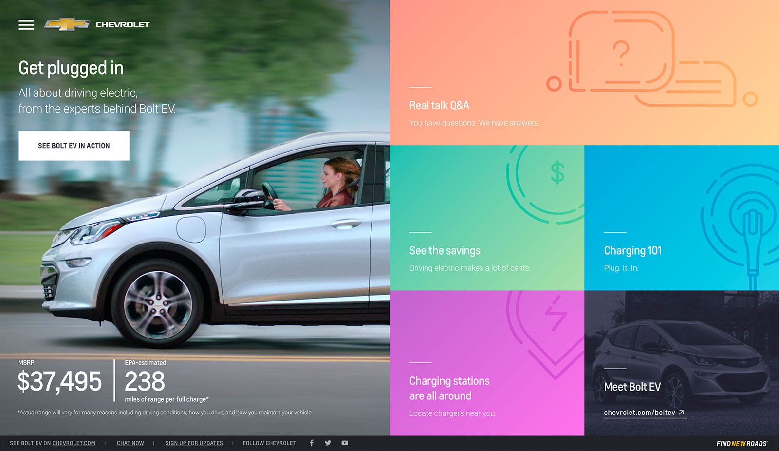 Chevy Bolt Ev A microsite showcasing the new Chevy Bolt Electric Vehicle